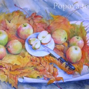"""Bunch of leaves Scent of apples"" Natalia Popova - Professional Artist"