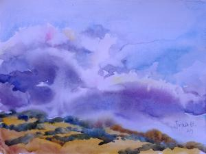 """Sky and Mountain"" Natalia Popova - Professional Artist"
