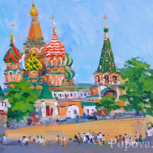 """The Temple and the Blessed People"" Natalia Popova - Professional Artist"