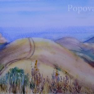 """Mountain and track"" Natalia Popova - Professional Artist"