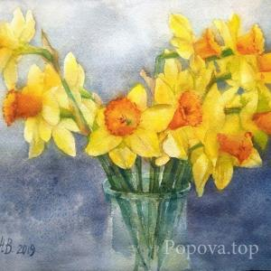 """Yellow Narcissus Cloud"" Natalia Popova - Professional Artist"