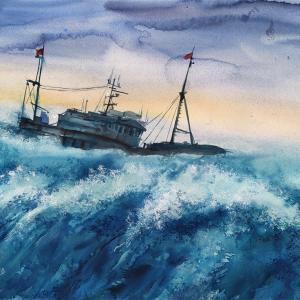 """Survive the Storm"" Nataliya Popova - Professional Artist"