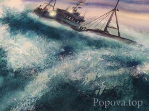 """I play the waves"" Fragment Natalia Popova - Professional Artist"