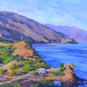 """Lighthouse in the Choban-Kale Bay at sunset"" Nataliya Popova - Professional Artist"