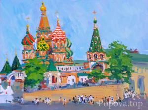 """St. Basil's Cathedral and the Blessed People"" Natalia Popova - Professional Artist"